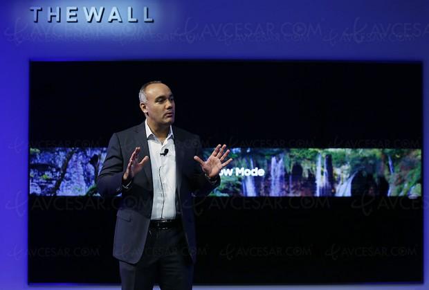 CES 18 > TV micro‑LED 146'' Samsung The Wall, mises à jour spécifications