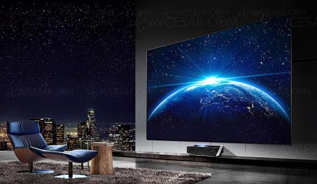 CES 18 > Laser TV Ultra HD Hisense, vidéoprojecteur ultra courte focale 80'' et 100''