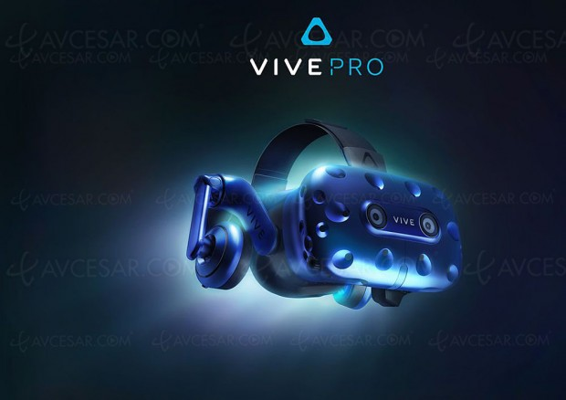 CES 18 > Nouveau casque RV HTC Vive Pro et adaptateur WiGig Vive Wireless