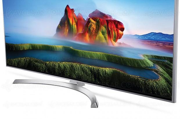 Soldes hiver 2018 Fnac, TV LCD LED Super Ultra HD Nano Cell LG 55SJ810V à 899 €, soit 25% d'économie