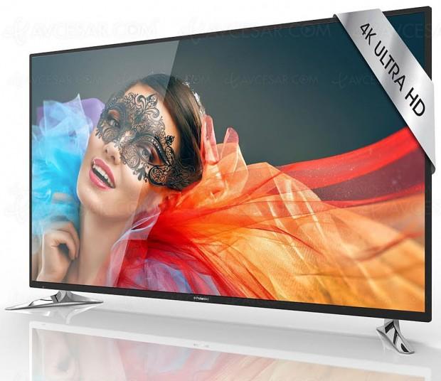 Soldes hiver 2018 Fnac, TV LCD LED Ultra HD Polaroid TQL65UHDP 13 UHD à -42%, soit 500 € d'économie