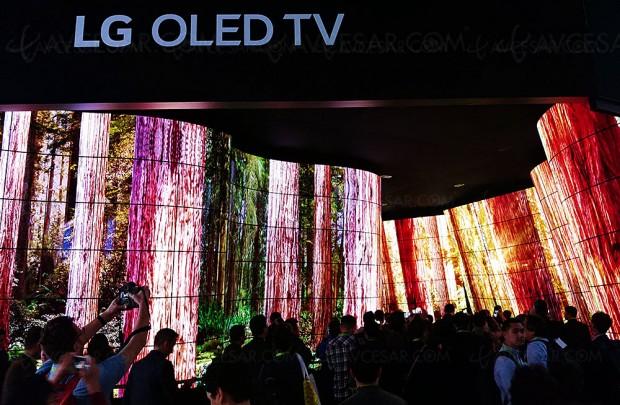 CES 18 > Le canyon TV Oled LG vole la vedette au salon CES de Las Vegas 2018