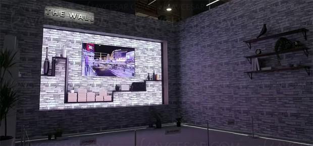 CES 18 > TV micro‑LED 146'' Samsung The Wall, disponibilité prévue fin 2018 : une réponse à l'Oled LG ?