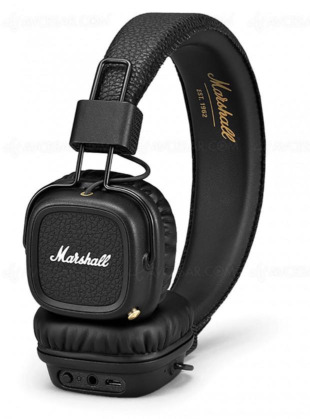 Soldes hiver 2018 Fnac, casque Marshall Major II Bluetooth à -47%, soit 70 € d'économie