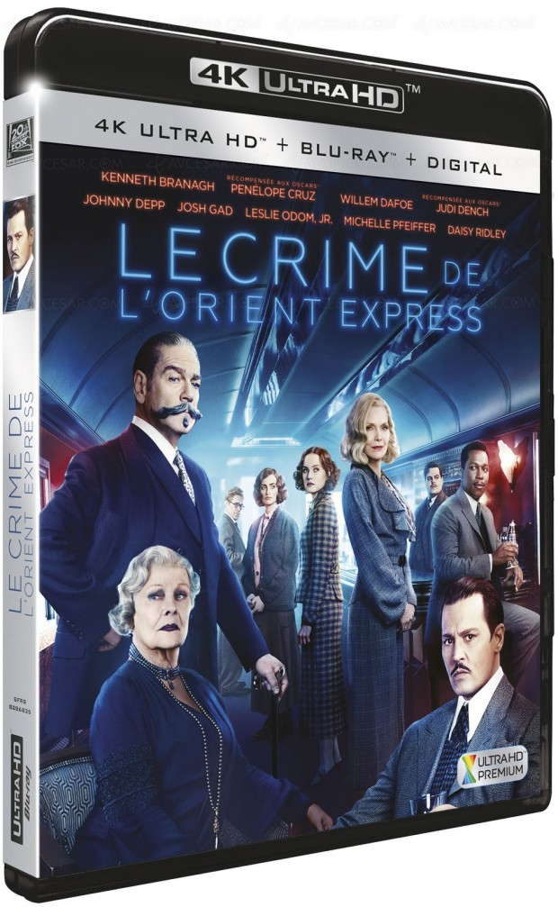 Le crime de l'Orient-Express en 4K Ultra HD Blu‑Ray le 18 avril