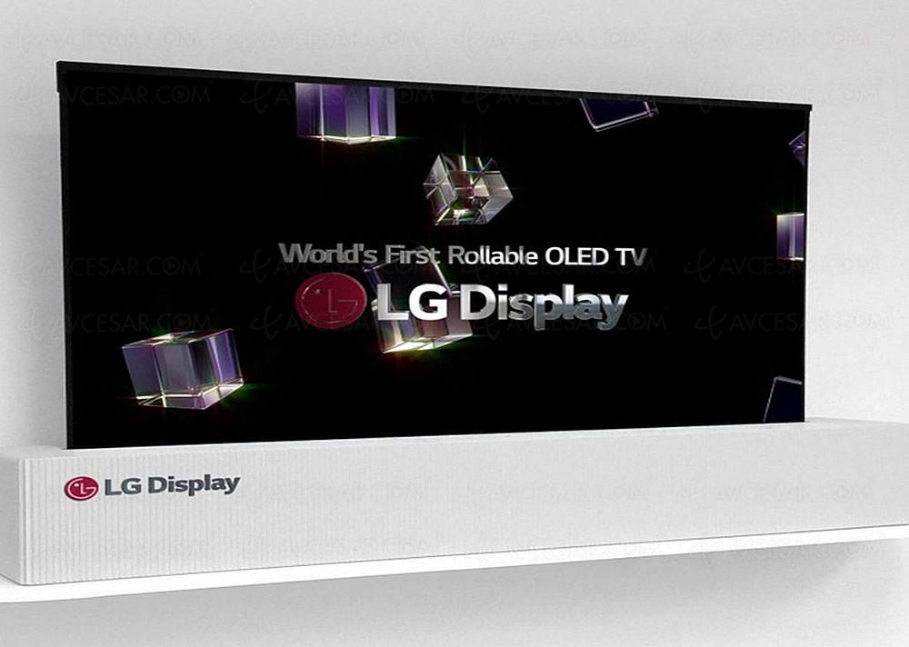ces 18 tv oled ultra hd lg display 65 39 39 enroulable mode tv mode et mode display. Black Bedroom Furniture Sets. Home Design Ideas