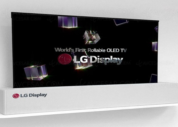 CES 18 > TV Oled Ultra HD LG Display 65'' enroulable : mode TV, mode 2.35 et mode Display Stretched