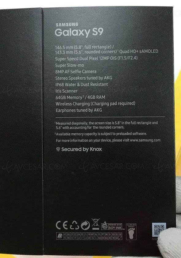 Fuites Samsung Galaxy S9 : capteur photo impressionnant !