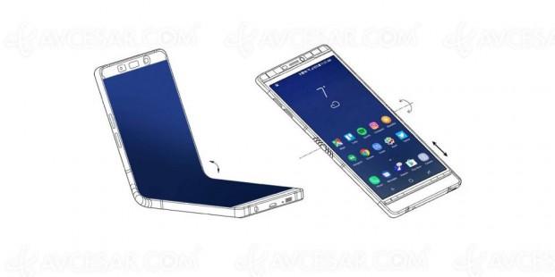 CES 18 > Smartphone pliable Samsung Galaxy X, vu au CES ? 7,3'' déplié…