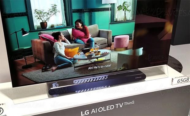 CES 18 > TV Oled UltraHD LGG8, mise à jourphotos