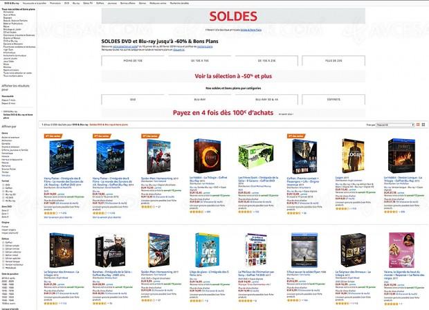 Soldes hiver 2018 Amazon, 2 138 DVD/Blu-Ray/Coffret/Séries TV jusqu'à -60%