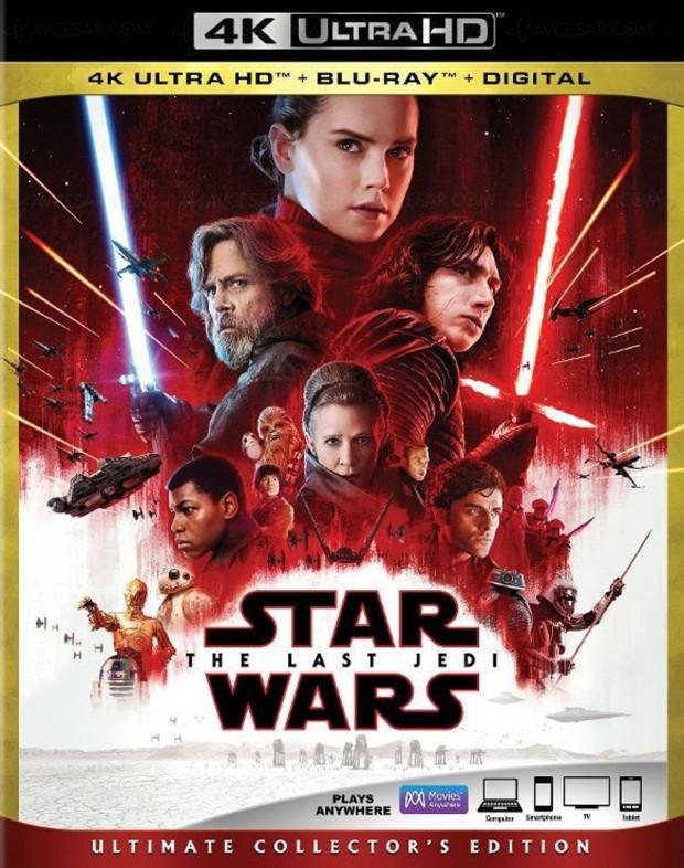 Star Wars : les derniers Jedi 4K Ultra HD Blu‑Ray, premiers visuels