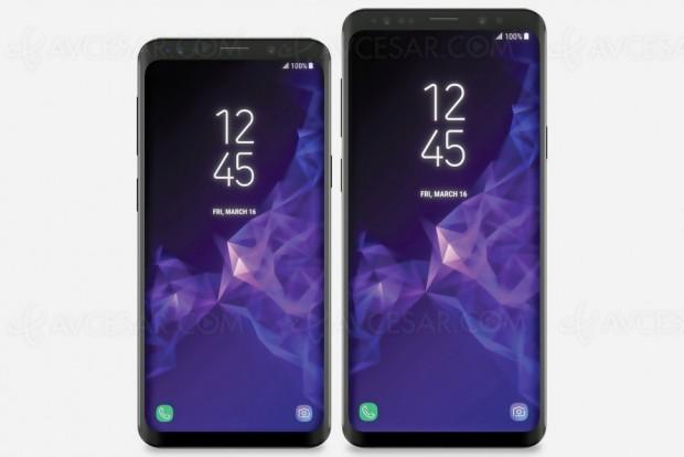 Premières images des Samsung Galaxy S9 et Galaxy S9 Plus