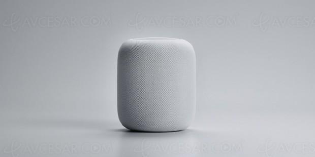 Enceinte Apple HomePod, calibrée pour respecter l'environnement