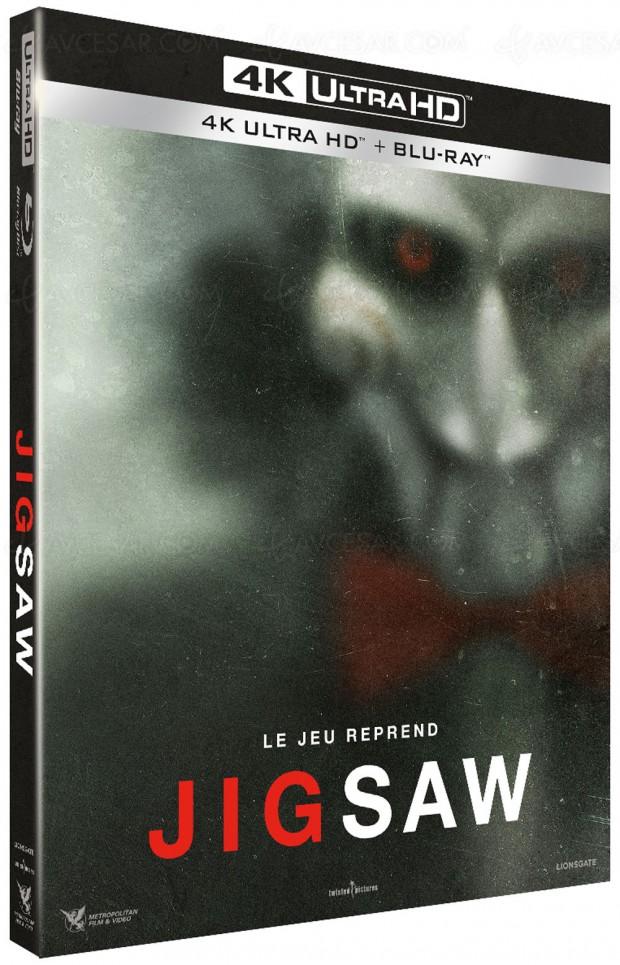 Jigsaw, tout premier titre 4K Ultra HD Blu‑Ray de Metropolitan Film & Vidéo