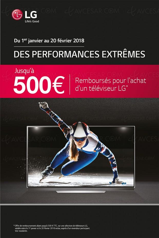 Nouvelle offre de remboursement TV LCD/Oled LG, jusqu'à 500 € remboursés