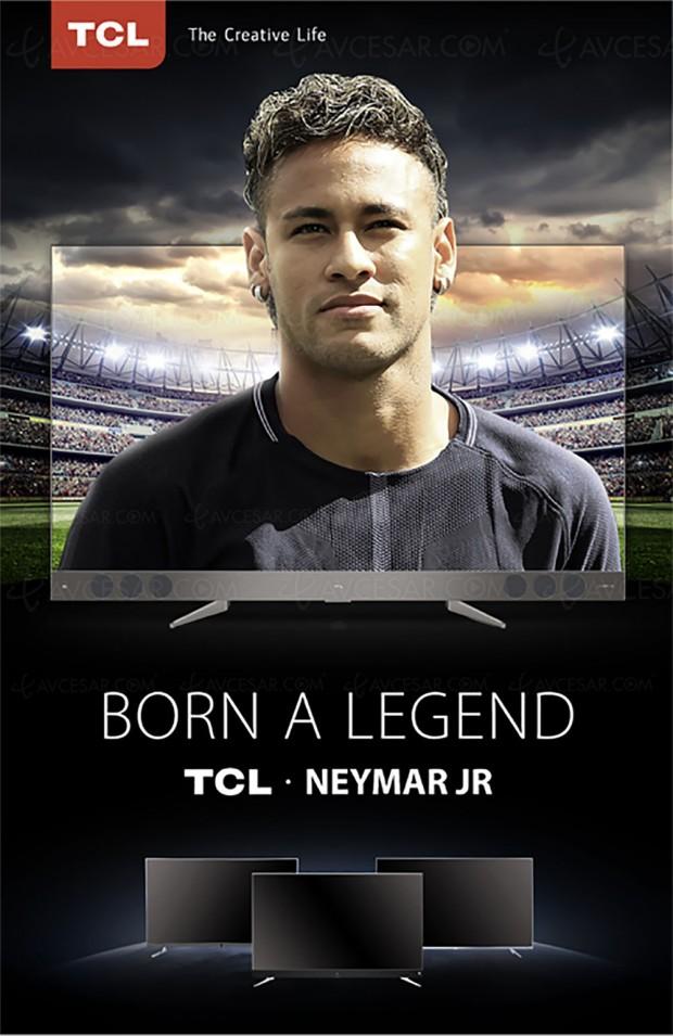 Le footballeur du PSG, Neymar Jr., ambassadeur de TCL