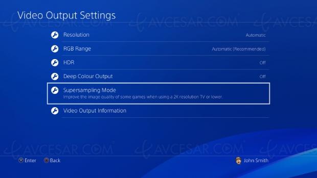 Image améliorée sur PS4 Pro, même sur un écran 1 080p (ou moins)