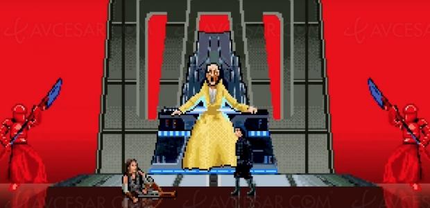 Les derniers Jedi façon jeu vidéo à l'ancienne