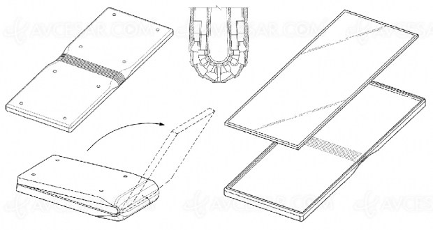 Smartphone pliable Samsung, nouveau brevet publié…