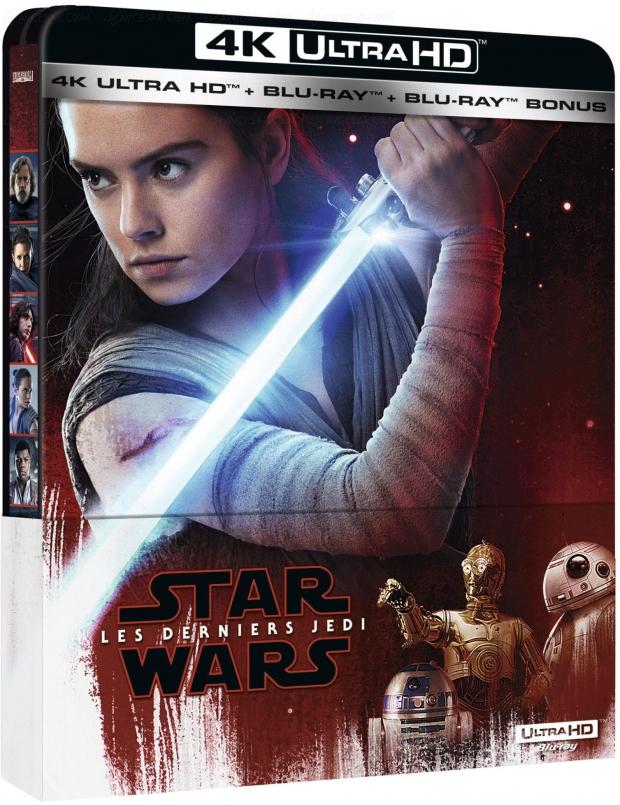 Star Wars : les derniers Jedi 4K Ultra HD Blu‑Ray, date de sortie et visuels France