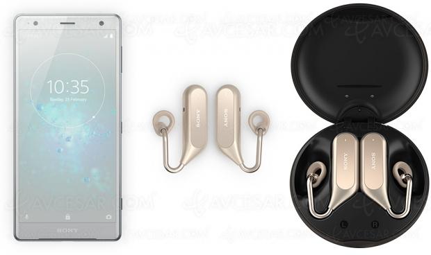 Sony Xperia Ear Duo, oreillettes stéréo sans‑fil compatibles assistant vocal