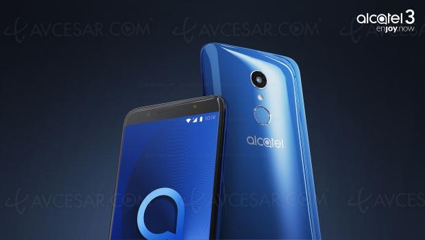 Alcatel 3, écran 18/9, 5,5'' et Android Oreo 8.0 pour un smartphone premier prix