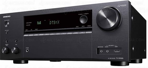 Onkyo TX-NR686, ampli 7.2, Dolby Atmos 5.2.2, HDMI 2.0a, HDCP 2.2, DTS:X…
