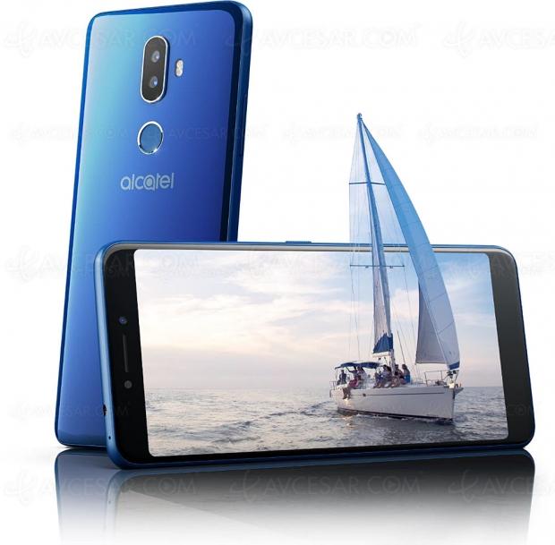 Alcatel 3V, écran 18/9, 6'', double APN et Android Oreo 8.0