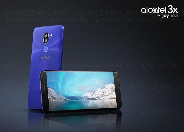Alcatel 3X, écran 18/9, écran 5,7'', double APN et Android Nougat 7.0