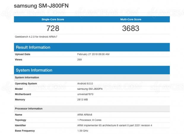 Smartphone Samsung Galaxy J8 bientôt ?