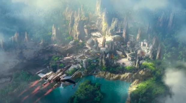 Parc Star Wars Disney, premier survol vidéo du chantier