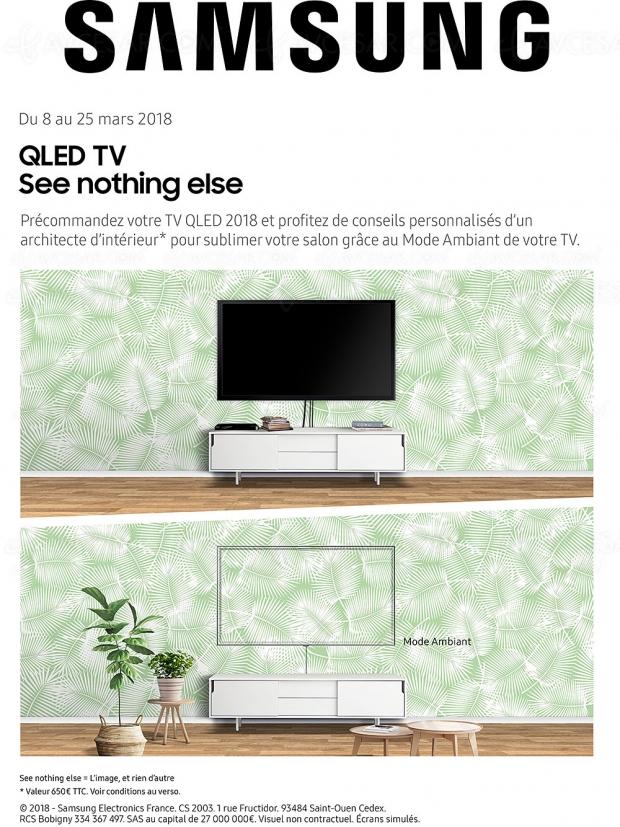 Précommande TV QLED Samsung 2018, redécorez votre salon avec des conseils de pro