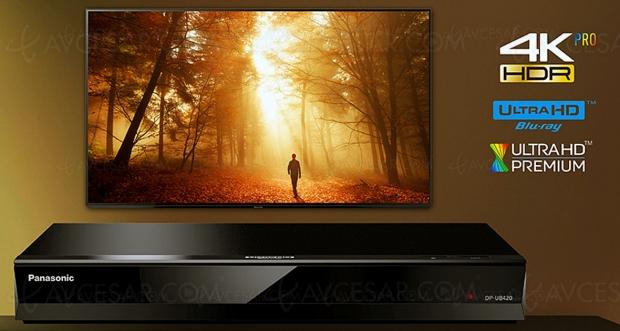 Platine Ultra HD Blu‑Ray Panasonic DP‑UB420, mise à jour prix indicatif