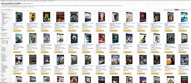 Promos Amazon 4K Ultra HD Blu‑Ray sur 74 titres, 2 achetés = 1 troisième offert !