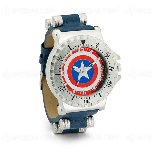Toujours à l'heure avec la montre Captain America