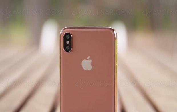 L'iPhone X bientôt disponible en or rose ?
