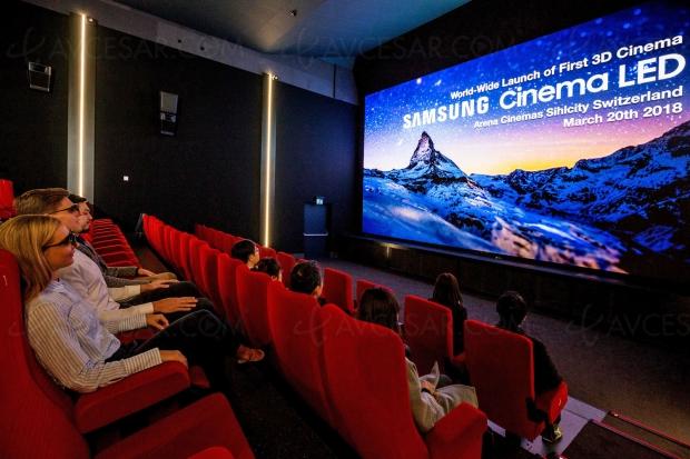 Premier écran de Samsung Cinéma LED 3D