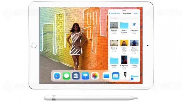 Nouvel iPad 9,7'', compatible Apple Pencil, 359 €
