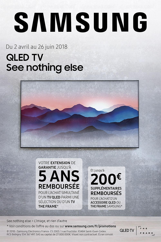 offre de remboursement tv samsung the frame ou qled 2017 2018 jusqu 39 700 rembours s. Black Bedroom Furniture Sets. Home Design Ideas