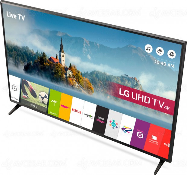TV LED Ultra HD LG UK6300 : diagonales 43