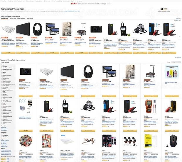 Ventes Flash Amazon, 2 406 produits à prix incroyables, jusqu'à 88% de remise