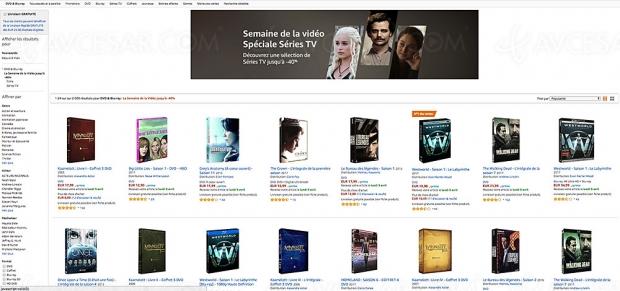 Amazon semaine de la vidéo spéciale Séries TV, 2 000 coffrets BD/DVD jusqu'à -40%