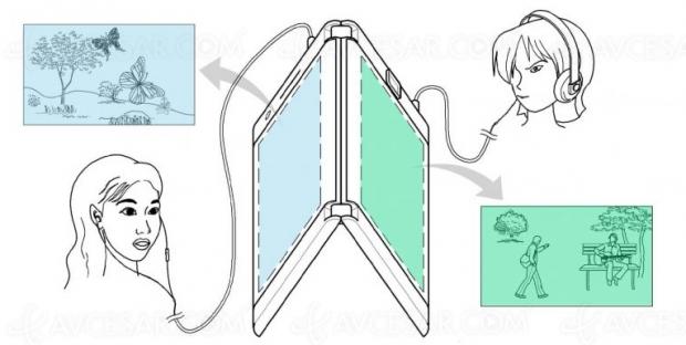 Concept smartphone pliable à double écran chez LG