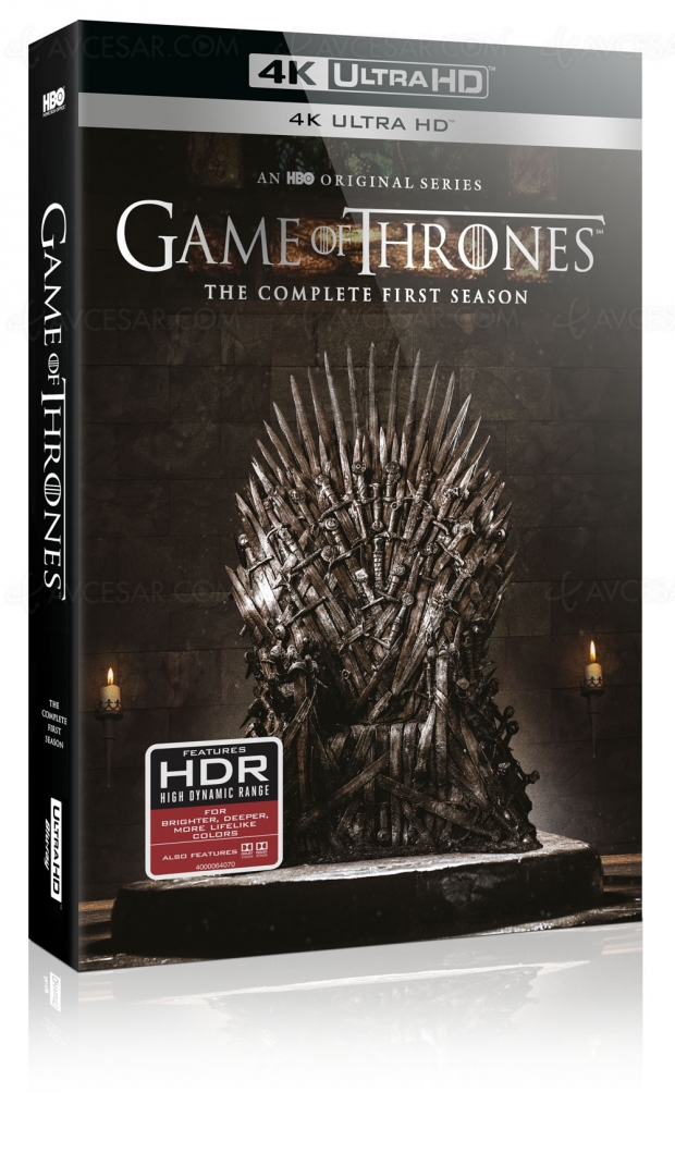 Game of Thrones saison 1 4K Ultra HD Blu-Ray, Warner France confirme