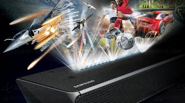 Samsung HW‑N650, barre sonore optimisée pour le jeu vidéo…
