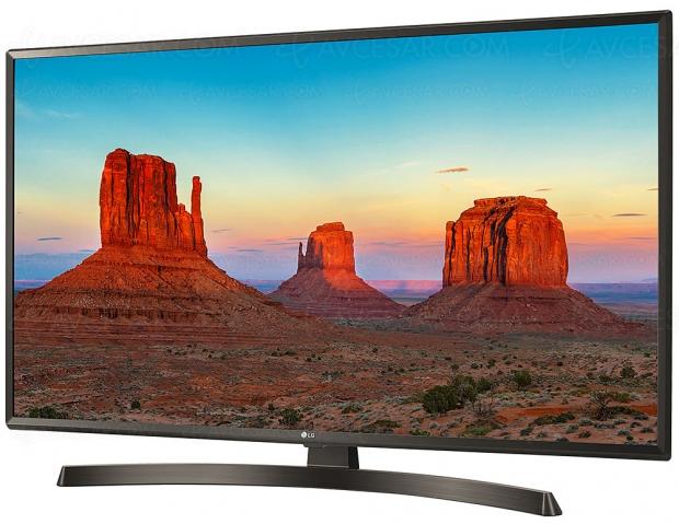TV LED Ultra HD LG UK6400 : diagonales 43