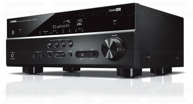 Yamaha RX-V385, ampli 5.1 Bluetooth, Dac 384 kHz/32 bits, HDMI 2.0b, Upscaling Ultra HD, HDCP 2.2…
