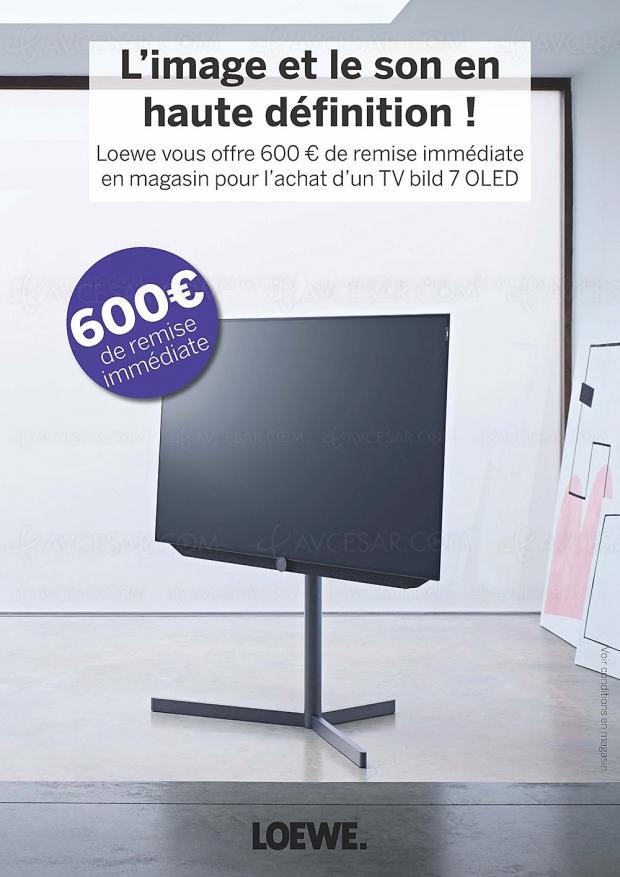 Promotions Loewe TV Oled : 500 € de remise sur le Bild 3.55 et 600 € sur la série Bild 7