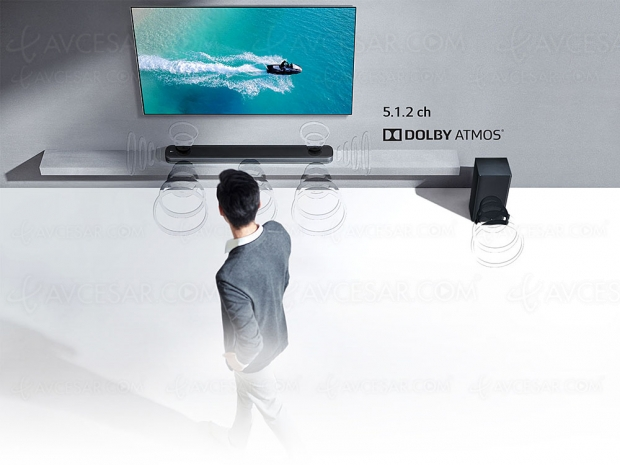 LG SK9Y, barre de son Dolby Atmos 5.1.2 et Chromecast